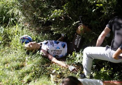 """Na 2 gebroken ruggenwervels en 7 gebroken ribben: """"Ik zal Lombardije wel volgen vanuit de zetel"""""""