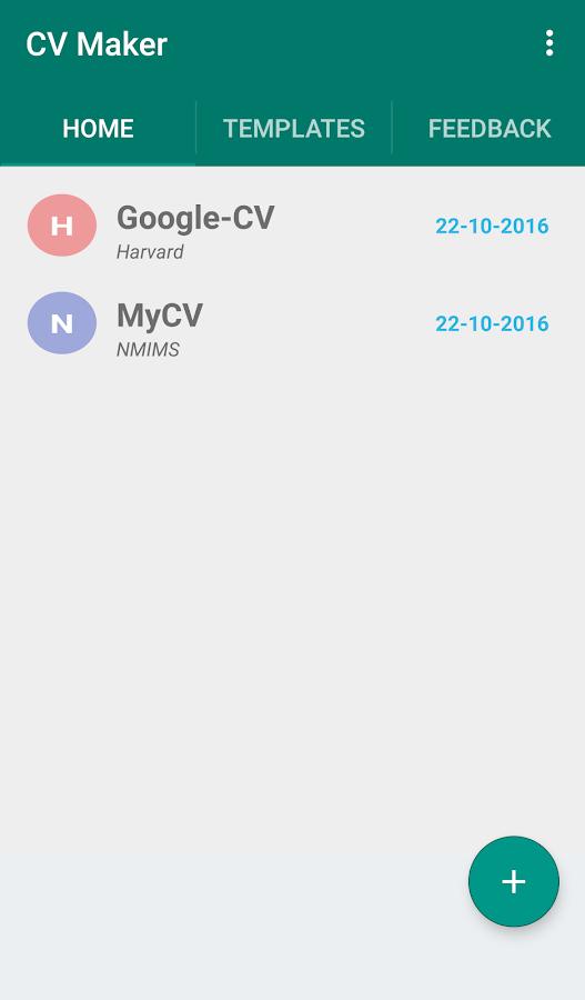 cv maker screenshot