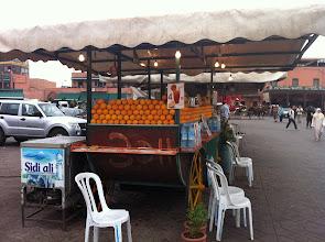 Photo: Moins de 0,40€ le jus d'orange Frais Place Jemaa-el-Fna Marrakech
