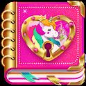 Unicorn Diary (with lock - password) icon