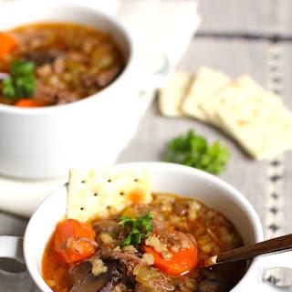 Beef Barley Vegetable Soup.