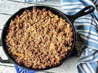 Iron Skillet Peach Cobbler Recipe