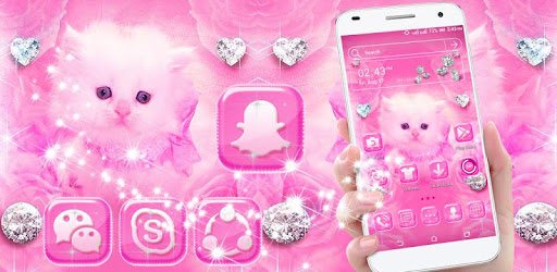 Cute Pink Cat Launcher Theme Google Play N App