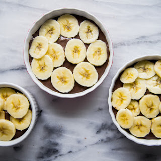 Caramelized Banana Chia Seed Chocolate Creme Brulee