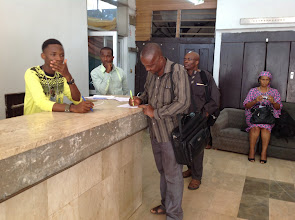 Photo: LOC Member, Pastor (Barr.) Anayo Enechukwu formally Registers as ISA Member & Participant