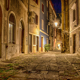 by Joško Šimic - Buildings & Architecture Public & Historical ( history, urban scene, old, building exterior, europe, street, night, house, town, architecture, built structure, medieval, city,  )