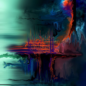 Mimir's  Well by Glen Sande - Painting All Painting ( modern, abstract, corel painter 2017, fantasy art, expressionism, digital painting, conceptual )