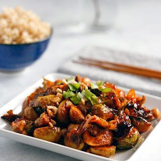 Spicy Kung Pao Brussels Sprouts.