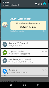 Abusive Gym Reminder: miniatura de captura de pantalla