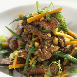 Sliced Steak and Peanut Salad