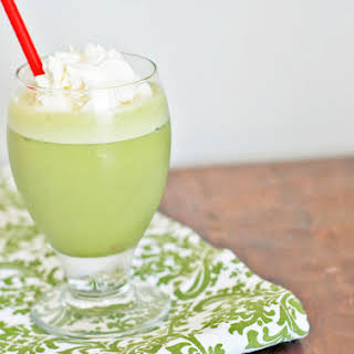 Iced Matcha Green Tea Latte.