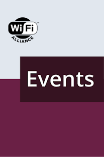 Wi-Fi Events Application - náhled