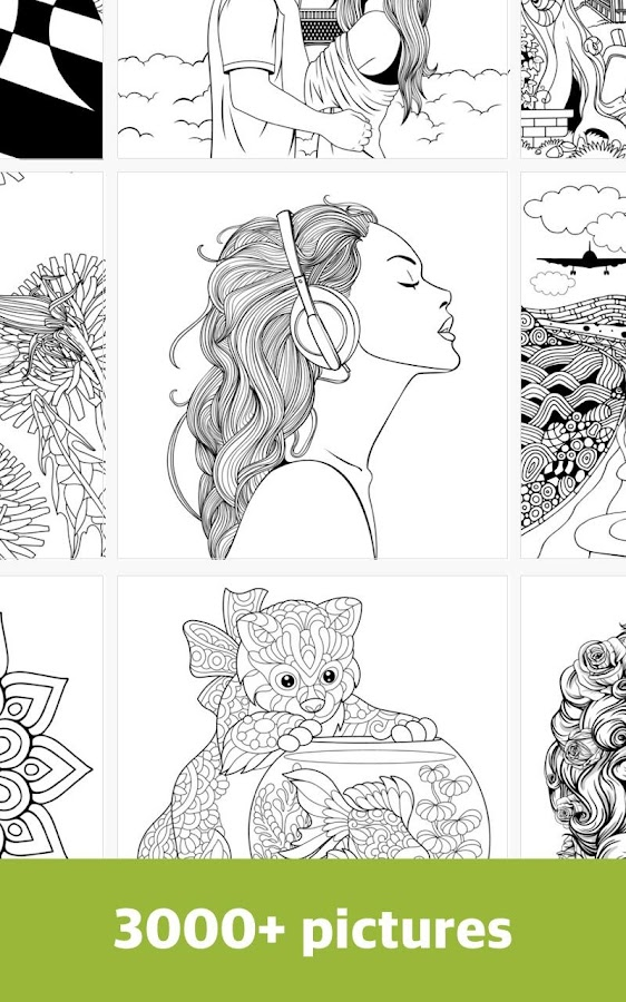 free coloring book for adult mandala and pixel screenshot