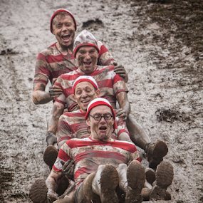 Mud Sliders by Phil Portus - Sports & Fitness Other Sports ( mud, 2014, skipton, yorkshire, 4, tough, august, men, slide, mudder )