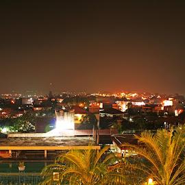 Lampung at Night by Mulawardi Sutanto - City,  Street & Park  Night ( view, bagus, city, night, travel, lampung )