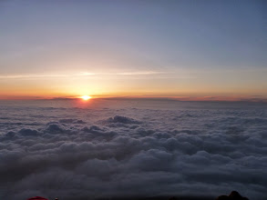 Photo: Sunrise above the clouds, 3450m