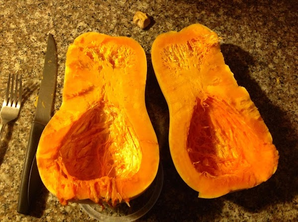 Now split Spaghetti Squash for baking. Set oven at 300 degrees for a slow...