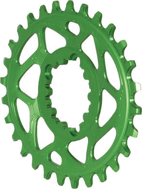 Absolute Black Spiderless GXP Direct Mount Oval Chainring alternate image 0