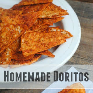 Homemade Doritos Style Chips.