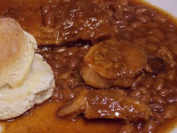 Cola Baked Beans And Pork Chops - Slow Cooker Recipe