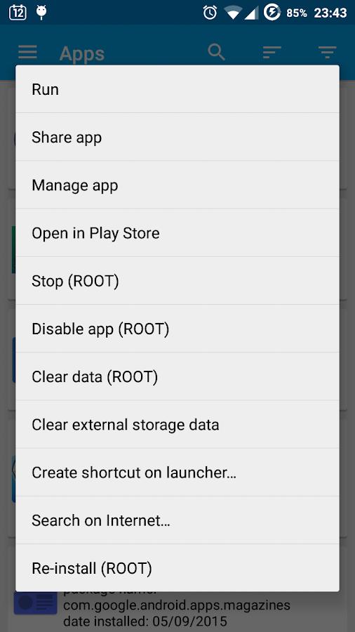 App Manager- screenshot
