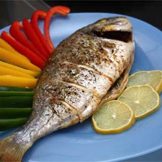 Baked Sea Bass Stuffed with Rosemary