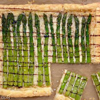 Cheesy Asparagus Tart.