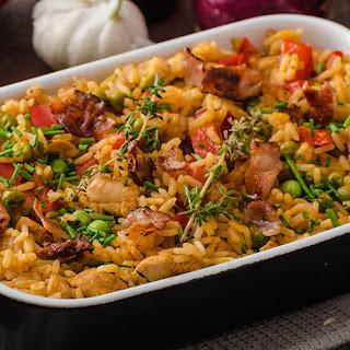 Cajun Chicken and Rice Casserole.