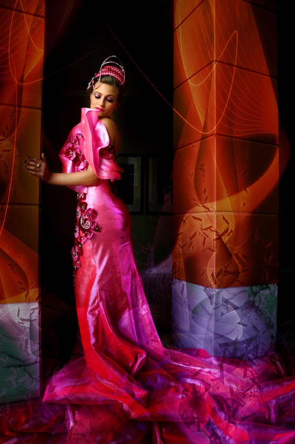 DREAM GIRL IN PINK by EUGENE CAASI - People Fashion