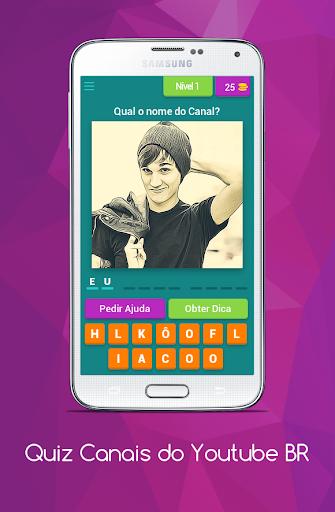 Quiz Canais Youtubers Brasil 8.5.1z screenshots 1
