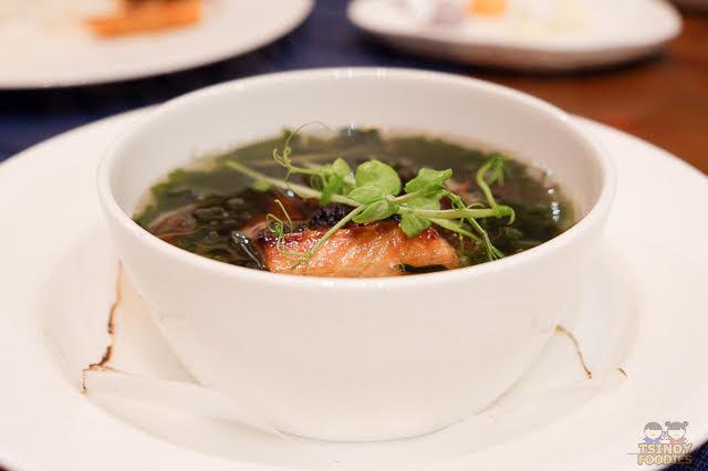 salmon yuzu dashi