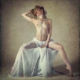 The Cross by John McNairn - Nudes & Boudoir Artistic Nude ( studio, blonde, model, girl, nude )