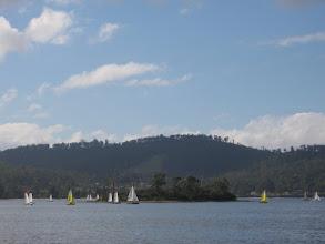 Photo: Port Esperance regatta boats passing Charity Island