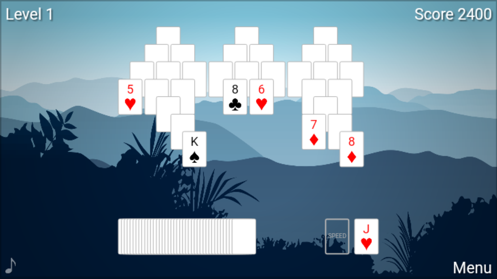 peaks solitaire