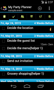 My Party Planner - Lite Screenshot