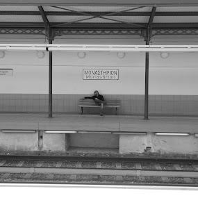 where is the train by Star Steel - Black & White Street & Candid