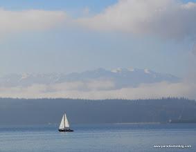 Photo: Puget Sound and Olympic Mountains, Washington