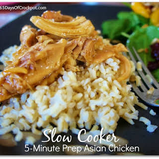 Recipe for 5-Minute Prep Slow Cooker Asian Chicken.