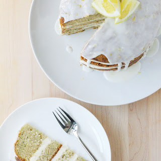 Lemon Zucchini Cake with Goat Cheese Frosting and Lemon Glaze Recipe