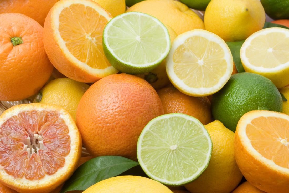 Citrus foods are high in vitamin C