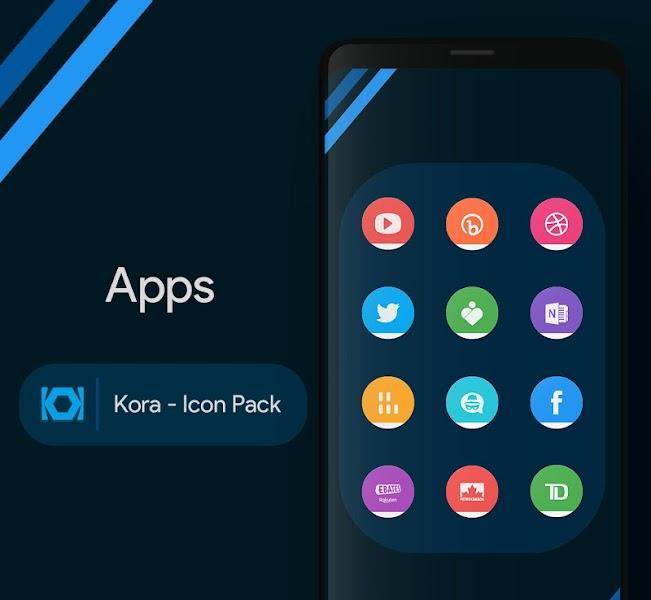 Download APK: Kora – Icon Pack v0.5.1 [Patched]