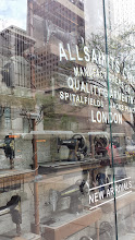 Photo: liked all the old sewing machines in the window at All Saints fashion store - Magnficent Mile