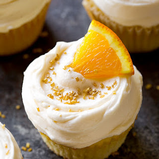 Fresh-Squeezed Mimosa Cupcakes