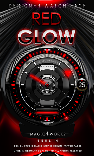Red Glow Watch Face