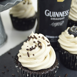 Chocolate Guinness Cupcakes with Beer Marshmallow Frosting