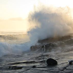 Frozen Fury by Alison Gimpel - Landscapes Weather ( minnesota, weather, lake superior, storms, landscape,  )