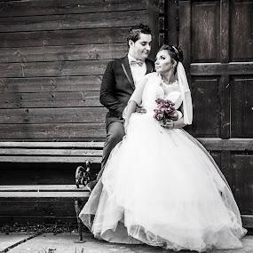 Cristi&Anca by Doru Iachim - Wedding Bride & Groom ( love, wedding, marriage, bride, groom )
