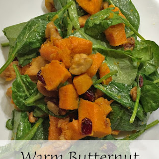Warm Butternut Squash Spinach Salad Recipe