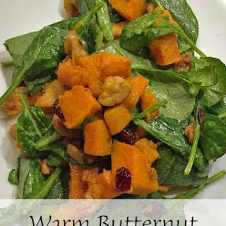 Warm Butternut Squash Spinach Salad.