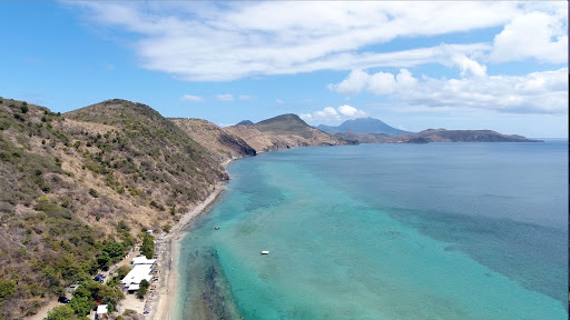 drone-frigate-bay-south.jpg - Drone image of pretty Frigate Bay in St. Kitts, looking south.